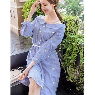 Stripe Long-Sleeve Dress 1061378215