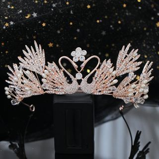Wedding Rhinestone Swan Tiara