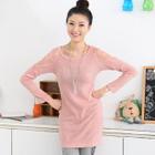 Lace Shoulder Knit Top 1596