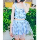 Set: Gingham Bikini + Skirt 1596