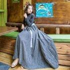 Tie-Waist Maxi Dress 1596