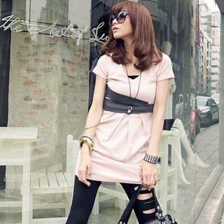 Buy PUFFY Color-Block Tee-Shirt Dress 1022782400