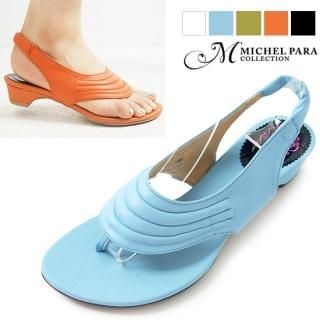 Buy MICHEL PARA COLLECTION Genuine Leather Thong Sandals 1023008658