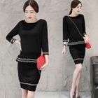 Set: Ruffle Sweater + Pencil Skirt 1596
