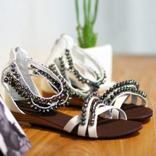 Buy SDKING Beaded Strap Sandals 1023015363