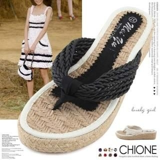 Picture of Chione Hemp Sandals 1022971889 (Sandals, Chione Shoes, Korea Shoes, Womens Shoes, Womens Sandals)