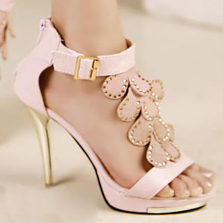 Buy Kvoll Rhinestone Ankle-Strap Sandals 1023009606