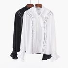 Long-Sleeve Bow-Accent Blouse 1596