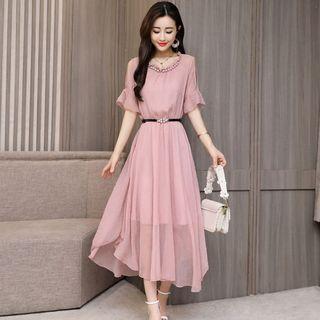 Romantica Cutout-Shoulder Midi Dress