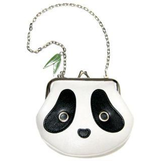 Buy Morn Creations Panda Purse with Chain Black & White – One Size 1005037987