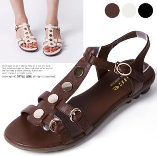 Picture of STYLE LINE Studded Ankle-Strap Sandals 1022860409 (Sandals, STYLE LINE Shoes, Korea Shoes, Womens Shoes, Womens Sandals)