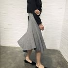 Ribbed A-Line Midi Skirt 1596