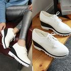 Lace-Up Wedge Shoes White - 38 от YesStyle.com INT