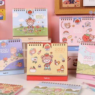 Cartoon Print Desktop Calendar 2021