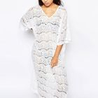Lace Cover-Up Maxi Dress 1596