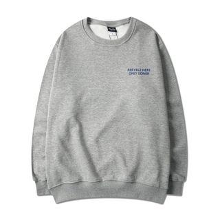 Image of Couple Matching Lettering Sweatshirt