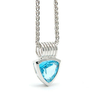 Blue Topaz Breakthough Pendant - United states