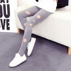 Plain Ripped Tights 1596