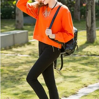 Zipped Pullover Orange - One Size 1049325590