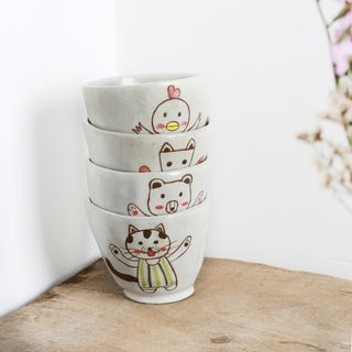 Cartoon Hand-Painted Ceramic Cup 1060345420