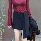 Tie-Waist Mini Skirt 1596