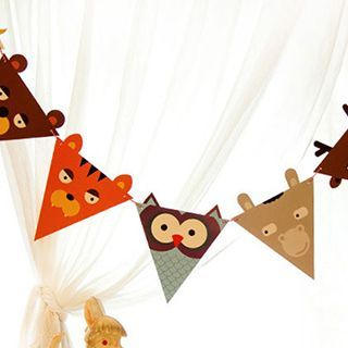 Set of 8: Animal Party Flags 1046422289