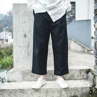 Cropped Straight-Cut Pants