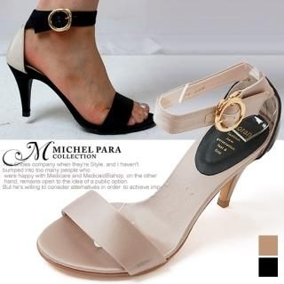 Picture of MICHEL PARA COLLECTION Ankle Strap Satin Sandals 1022937459 (Sandals, MICHEL PARA COLLECTION Shoes, Korea Shoes, Womens Shoes, Womens Sandals)