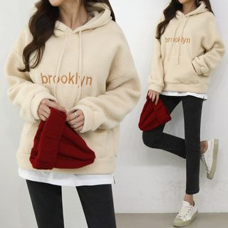 Letter Embroidery Dumble Hoodie