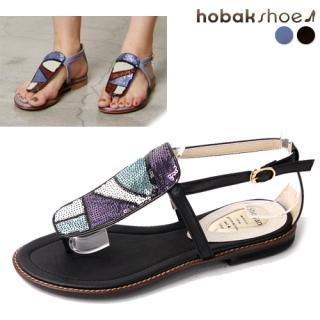 Buy HOBAK girls Sequined Accent Thong Sandals 1022901037