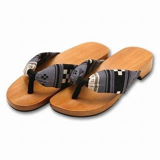Picture of Mizutori Japanese Geta-monogatari Wooden Sandals 1022543283 (Sandals, Mizutori Shoes, Japan Shoes, Mens Shoes, Mens Sandals)