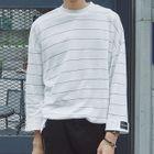 Stripe Drop-shoulder Knit Top 1596