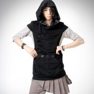 Buy deepstyle Hood Vest 1022494725