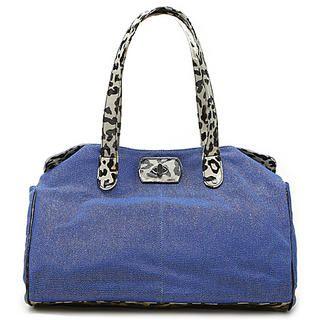 Buy Gossip Girl Leopard Print Shoulder Bag Valuable Blue – One Size 1022944969
