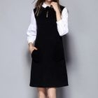 Frill Trim Knit Dress 1596