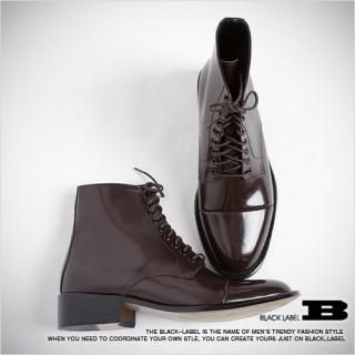 Picture of Style Impact Patent Leather Ankle Boots 1021540678 (Boots, Style Impact Shoes, Korea Shoes, Mens Shoes, Mens Boots)