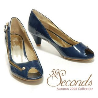Picture of 59 Seconds Zip Detail Peep-Toe Pumps 1011028877 (Pump Shoes, 59 Seconds Shoes, Hong Kong Shoes, Womens Shoes, Womens Pump Shoes)