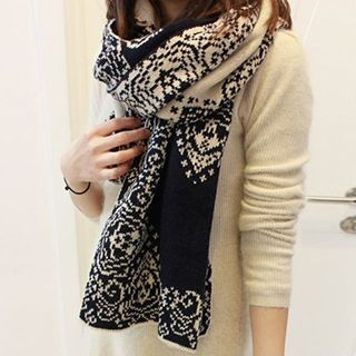 Patterned Knit Scarf 1048324121
