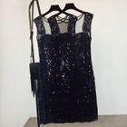 Sequined Sleeveless Dress 1596