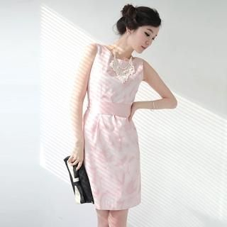 Picture of AKA Satin Tie Waist Sleeveless Dress 1022451607 (AKA Dresses, Womens Dresses, South Korea Dresses, Satin Dresses)