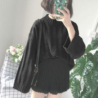 Plain Ribbed Sweater 1062672531