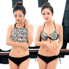 Set: Zebra Print Bikini + Cover-Up Top 1596