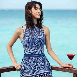 Patterned Swim Dress 1051502350