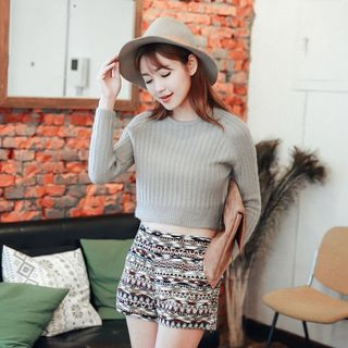 Cropped Knit Top 1046525055