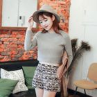 Cropped Knit Top 1596
