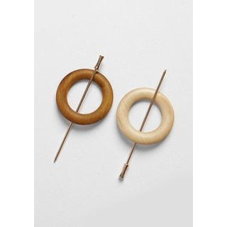 Hair Stick with Wooden Hoop 1061819733
