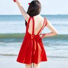 Plain Open Back Sleeveless Dress 1596