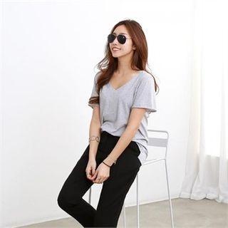 V-Neck Short-Sleeve T-Shirt 1065336044