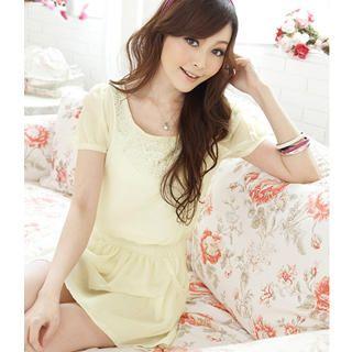 Buy Tokyo Fashion Rhinestone Smocked Chiffon Dress 1022911565