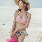Set: Printed Bikini + Cover Top 1596
